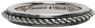 Ugo Cacciatori Silver Edge and Cable Ring