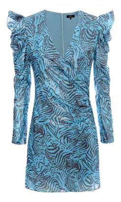 De La Vali Blue Polyester Dresses