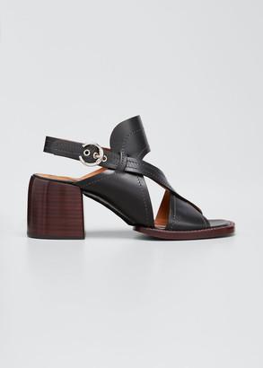Chloé Gaile 60mm Leather Slingback Sandals