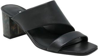 Charles by Charles David Charles David Leather Slip-On Chunky Heel Mules- Chello