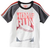 "Osh Kosh Boys 4-12 Raglan Short Sleeve ""Home Run"" Baseball Tee"