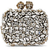 Alexander McQueen Swarovski Crystal-embellished Leather Clutch