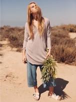 Junk Food Clothing Stray Heart 3/4 Henley Dress-ivory-xs