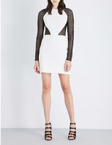 David Koma Lace and stretch-crepe mini dress