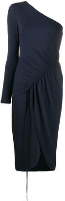 Cushnie Ruched One-Shoulder Dress