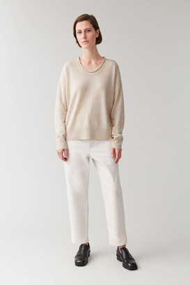 Cos MERINO-CASHMERE KNITTED JUMPER