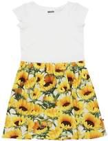Molo Sunflowers Jersey & Interlock Dress