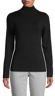 DKNY Mockneck Merino Wool Sweater