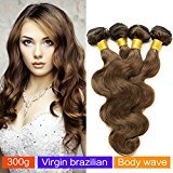 MAOYUAN 6A Vary Honey Brown 4# Brazilian Ombre Body Wave 3pcs/lot Virgin Remy Human Hair Bundles 8-28inch Hair Weft (3pcs 18inch)