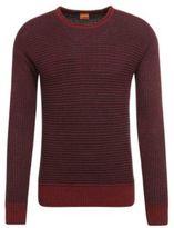 Hugo Boss Arkuso Cotton Striped Sweater M Red