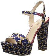 Nine West Women's Carnation Fabric Platform Sandal