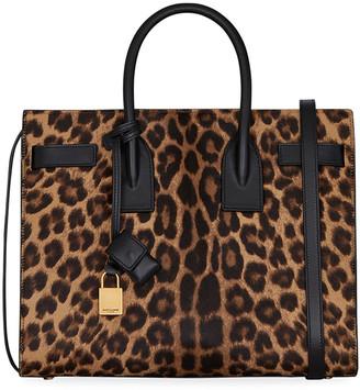 Saint Laurent Sac de Jour Small Leopard-Print Satchel Bag