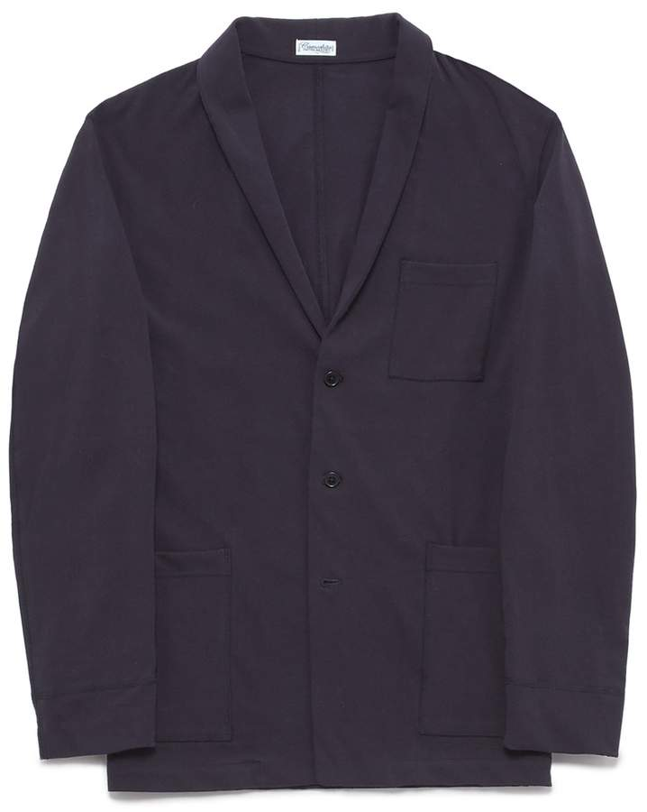 Camoshita Shawl lapel twill soft blazer