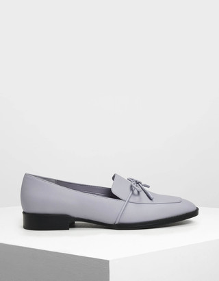 Charles & Keith Bow Detail Loafers