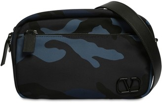 Valentino Camo Print Tech Nylon Crossbody Bag