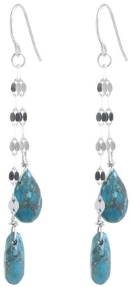 Overstock Sterling Silver Turquoise Drop Earrings