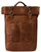 Timberland Men's 'Walnut Hill' Leather Backpack - Beige