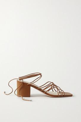 PORTE & PAIRE Woven Leather Sandals - Tan