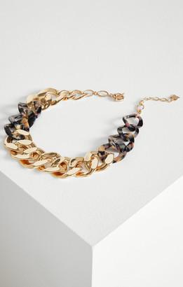 BCBGMAXAZRIA Chain Link Resin Necklace