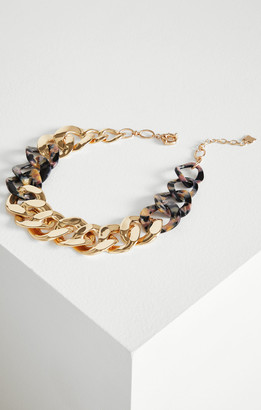 BCBGMAXAZRIA Chain Link Resin Necklace