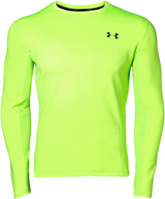 Under Armour Qualifier ColdGear Long Sleeve Top - Lime Light / Black Reflective