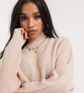 Vero Moda Petite sweater with bat wing sleeve in pink