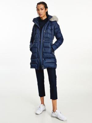 Tommy Hilfiger Essential Down-Filled Faux Fur Trim Coat