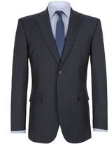 Aston & Gunn Twill Striped Notch Collar Suit Jacket