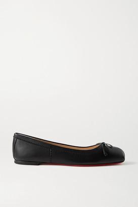 Christian Louboutin Mamadrague Leather Ballet Flats - Black