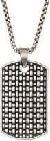 Steve Madden Textured Dog Tag Necklace