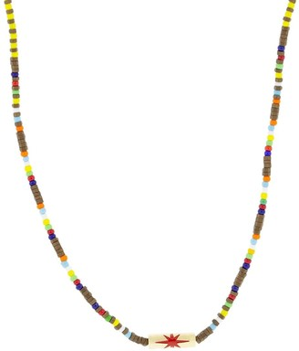 Luis Morais 14kt Yellow Gold And Hematite Beaded Necklace