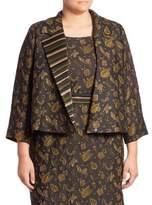Max Mara Chantal Elegante Floral Applique Jacket