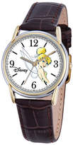 Disney Princess Disney Cardiff Womens Tinker Bell Brown Leather Watch Family