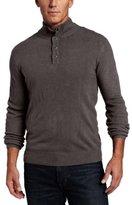 Geoffrey Beene Men's Button Mock Sweater