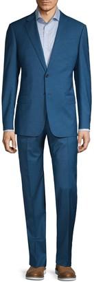 Armani Collezioni Classic-Fit Mini Check Wool Suit