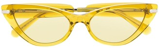 Viktor & Rolf Yellow Cat-Eye Glasses