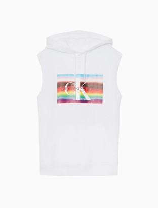 Calvin Klein Pride Monogram Logo Sleeveless Hoodie