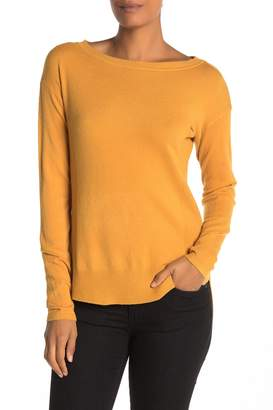 Cyrus High/Low Crew Neck Sweater