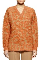 Stella McCartney Leopard-Pattern Mohair-Blend Sweater