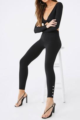 Forever 21 Snap-Button High-Rise Leggings
