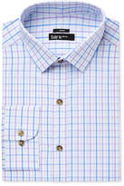 Bar III Men's Slim-Fit Stretch and Easy Care Purple Double Windowpane Dress Shirt, Created for Macy's