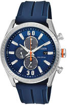 Citizen Drive from Eco-Drive Men's Blue Polyurethane Strap Watch 43mm