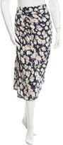 Nina Ricci Silk Floral Print Skirt