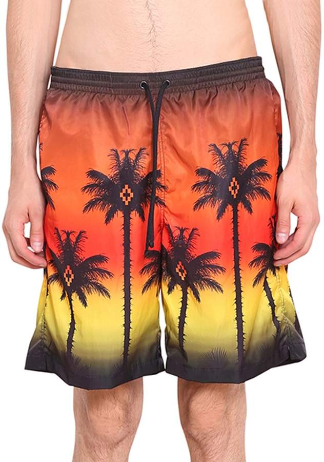 Marcelo Burlon County of Milan Red Palm Swim Shorts