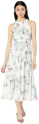 Ted Baker Kahlay Pergola Tiered Midi Dress (Ivory) Women's Dress