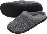 HomeTop Men's Comfort Slip On Memory Foam French Terry Lining Indoor Clog House Slippers