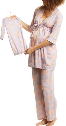 Everly Grey Analise During & After 5-Piece Maternity/Nursing Sleep Set