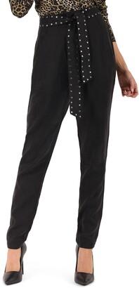 Pam & Gela Pant with Studded Sash Belt