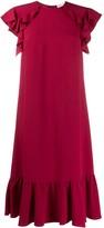 RED Valentino scalloped midi dress