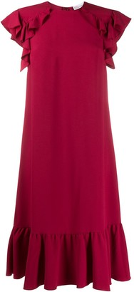 RED Valentino Scalloped Midi Dress